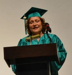 Kathy Paul addresses Clifton Graduates