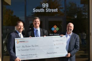 American Institute Presents Check to Big Brothers Big Sisters